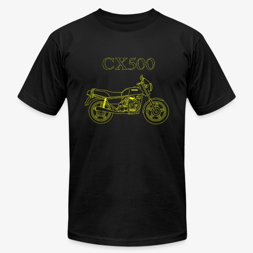 CX500 line drawing - Unisex Jersey T-Shirt by Bella + Canvas