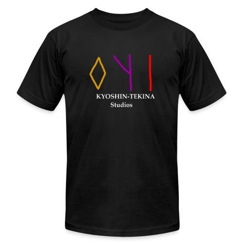 Kyoshin-Tekina Studios logo (white text) - Unisex Jersey T-Shirt by Bella + Canvas