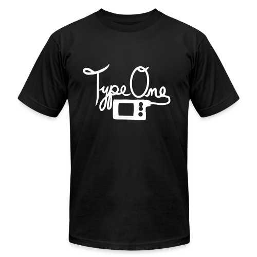 Type One - Insulin Pump 2- White - Unisex Jersey T-Shirt by Bella + Canvas