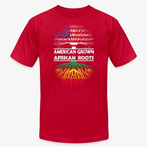 American Grown With African Roots T-Shirt - Unisex Jersey T-Shirt by Bella + Canvas