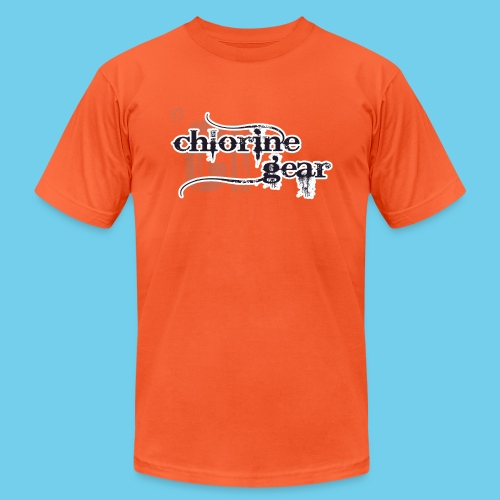 Chlorine Gear Textual stacked Periodic backdrop - Unisex Jersey T-Shirt by Bella + Canvas