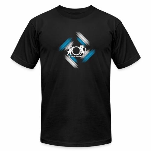 Atheist Republic Logo - Blue & White Stripes - Unisex Jersey T-Shirt by Bella + Canvas
