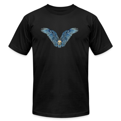 Wings Skull - Unisex Jersey T-Shirt by Bella + Canvas