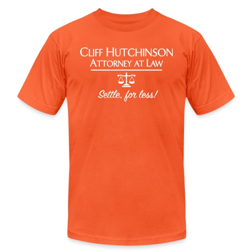 Cliff Hutchinson Attorney At Law - Unisex Jersey T-Shirt by Bella + Canvas