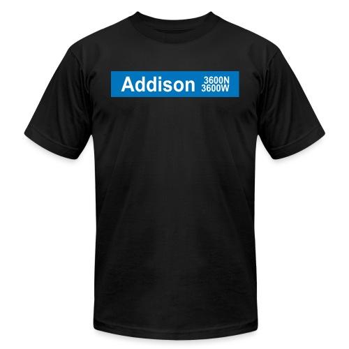 Addison Blue Line - Men's Jersey T-Shirt
