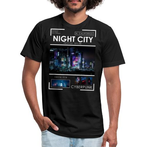 Night City Pacifica Skyline - Unisex Jersey T-Shirt by Bella + Canvas