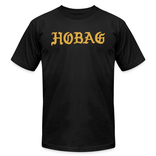 BLACK - HOBAG LETTERING - Unisex Jersey T-Shirt by Bella + Canvas