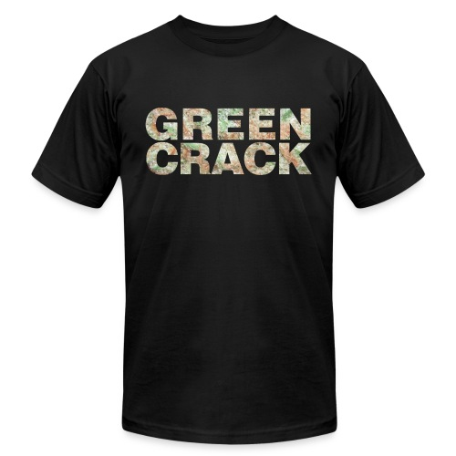 GREEN CRACK.png - Unisex Jersey T-Shirt by Bella + Canvas