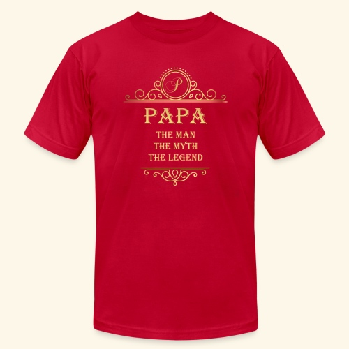 Papa the man the myth the legend - 2 - Unisex Jersey T-Shirt by Bella + Canvas