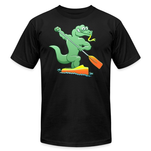 Water Monitor Competing in a Canoe Sprint Event - Unisex Jersey T-Shirt by Bella + Canvas