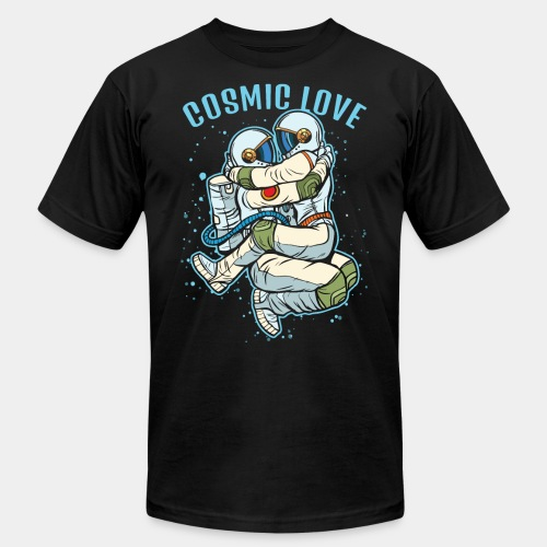 cosmic love astronaut space - Unisex Jersey T-Shirt by Bella + Canvas