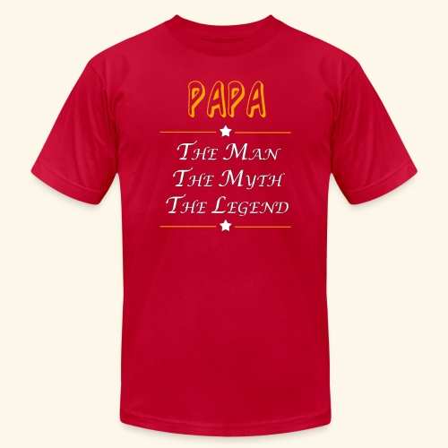 Papa the man the myth the legend - Unisex Jersey T-Shirt by Bella + Canvas
