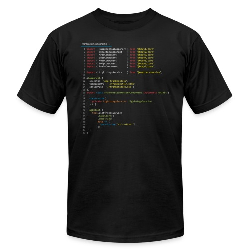 Frankenstein made with Angular - Men's  Jersey T-Shirt