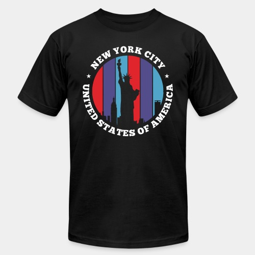 new york statue liberty - Unisex Jersey T-Shirt by Bella + Canvas