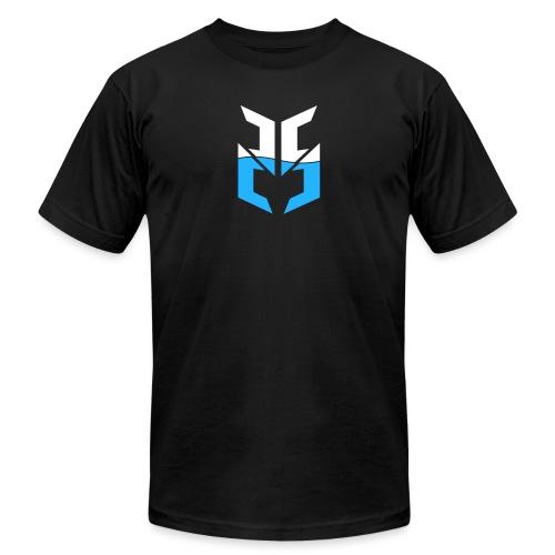 Split Logo Design Blue png - Unisex Jersey T-Shirt by Bella + Canvas