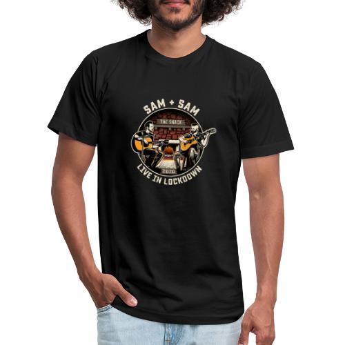 Sam + Sam Live in Lockdown - Unisex Jersey T-Shirt by Bella + Canvas
