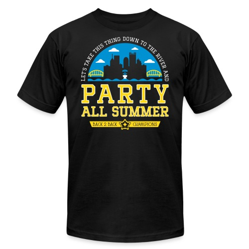 party all summer - Unisex Jersey T-Shirt by Bella + Canvas