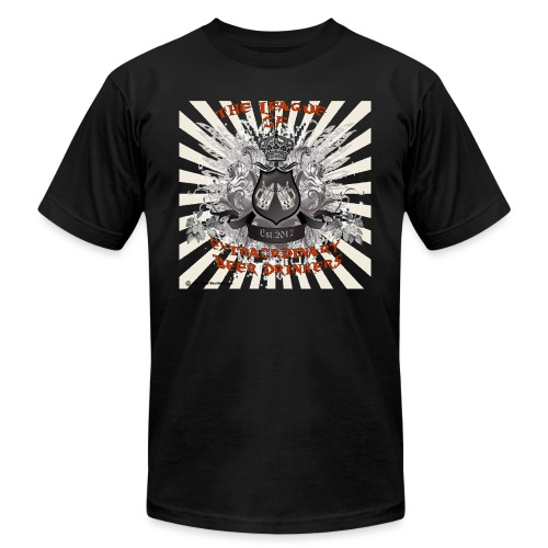 The League of Extraordinary Beer Drinkers Crest 3X - Unisex Jersey T-Shirt by Bella + Canvas