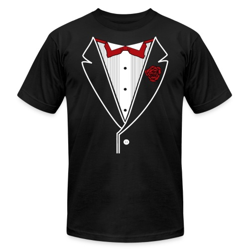 Tuxedo with Red bow tie - Unisex Jersey T-Shirt by Bella + Canvas