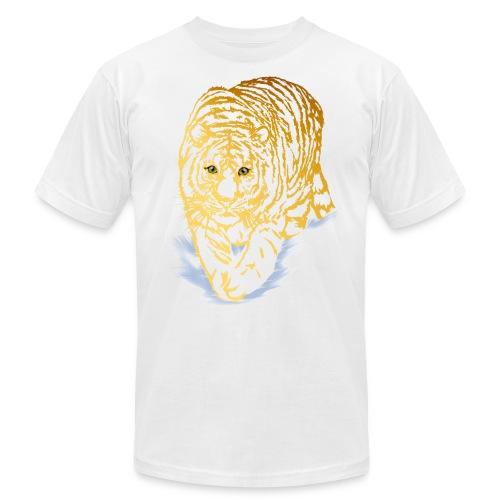 Golden Snow Tiger - Unisex Jersey T-Shirt by Bella + Canvas