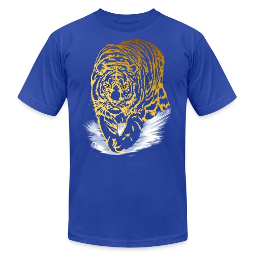 Golden Snow Tiger - Unisex Jersey T-Shirt by Bella + Canvas