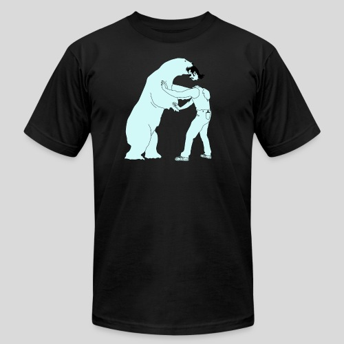 mullethead vs polar bear - Unisex Jersey T-Shirt by Bella + Canvas