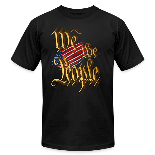 We The People-in gold - Unisex Jersey T-Shirt by Bella + Canvas