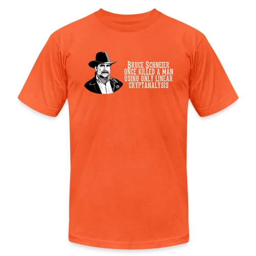 schneier1 cowboy white - Unisex Jersey T-Shirt by Bella + Canvas