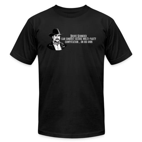schneier19 cowboy white - Unisex Jersey T-Shirt by Bella + Canvas