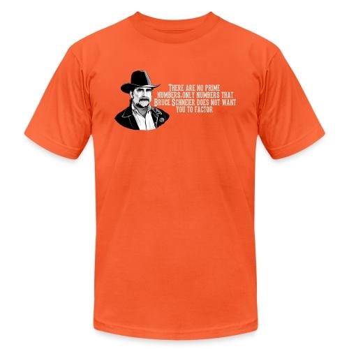 schneier22 cowboy white - Unisex Jersey T-Shirt by Bella + Canvas