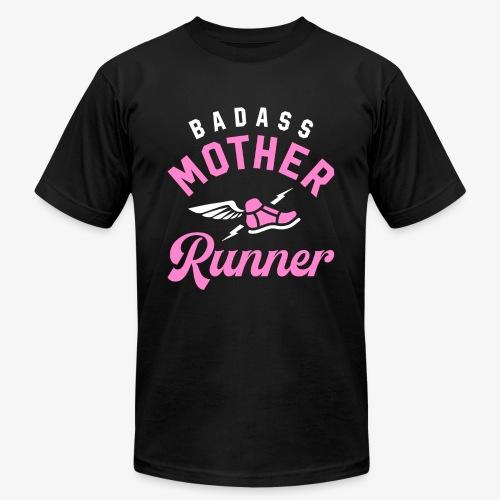 Badass Mother Runner - Unisex Jersey T-Shirt by Bella + Canvas