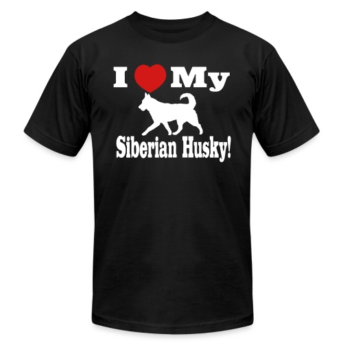 I Love my Siberian Husky - Unisex Jersey T-Shirt by Bella + Canvas