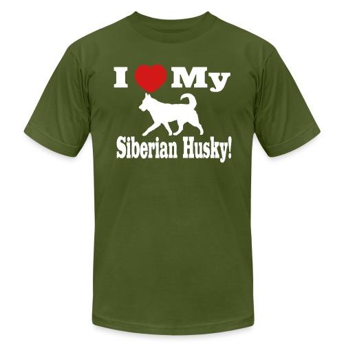 I Love my Siberian Husky - Unisex Jersey T-Shirt by Bella + Canvas