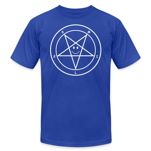 Smile Pentagram - Unisex Jersey T-Shirt by Bella + Canvas
