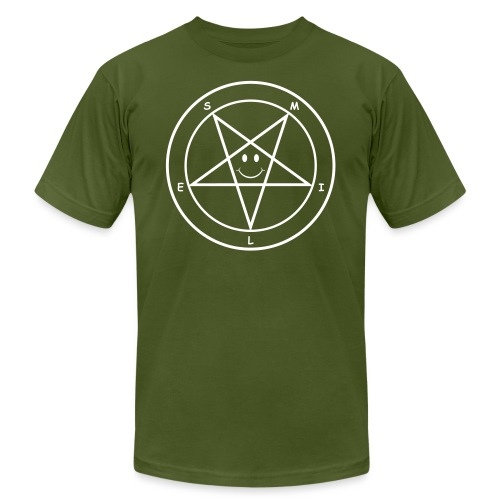 Smile Pentagram - Unisex Jersey T-Shirt by Bella + Canvas