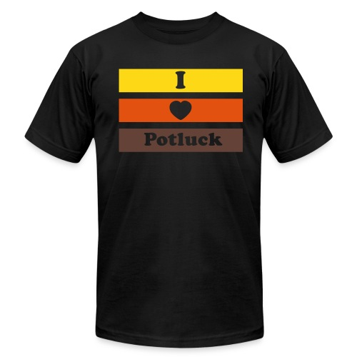 I Heart Potluck - Unisex Jersey T-Shirt by Bella + Canvas