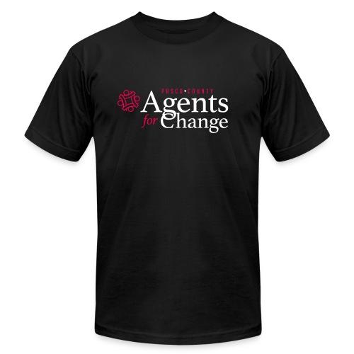 pascoagentsforchange logo - Unisex Jersey T-Shirt by Bella + Canvas