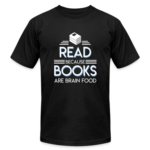 Reading Book Because Book Are Brain Food - Men's  Jersey T-Shirt