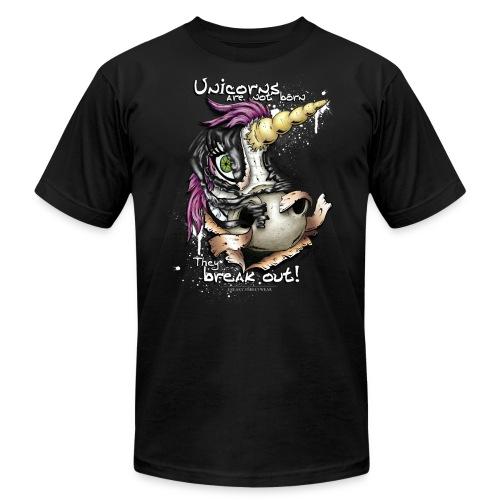 unicorn breakout - Unisex Jersey T-Shirt by Bella + Canvas
