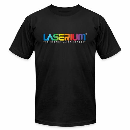 Laserium Logo Colors WhiteTag - Unisex Jersey T-Shirt by Bella + Canvas