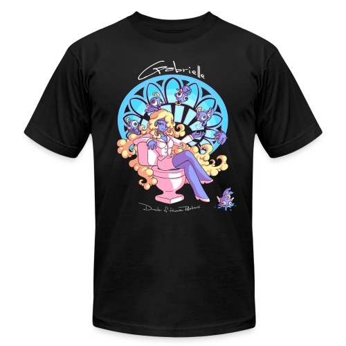 Black Gabrielle in Blue Women's T-Shirts - Unisex Jersey T-Shirt by Bella + Canvas