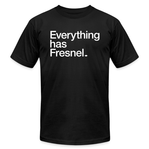 Everything has Fresnel - Unisex Jersey T-Shirt by Bella + Canvas