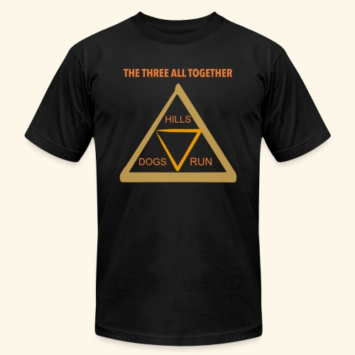 Run4Dogs Triangle - Men's Jersey T-Shirt