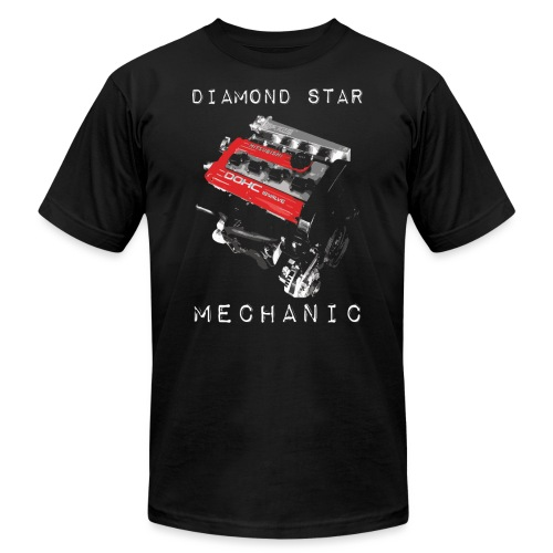 diamond star mechanic png - Unisex Jersey T-Shirt by Bella + Canvas