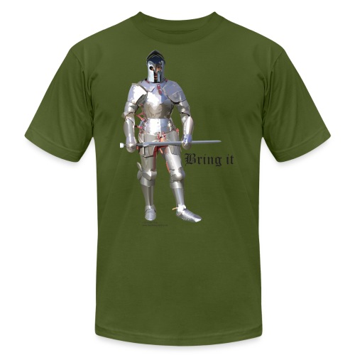 Plate Armor Bring it men's standard T - Unisex Jersey T-Shirt by Bella + Canvas