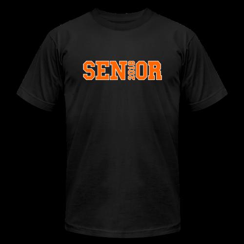 Orange Senior White Outline - Men's  Jersey T-Shirt