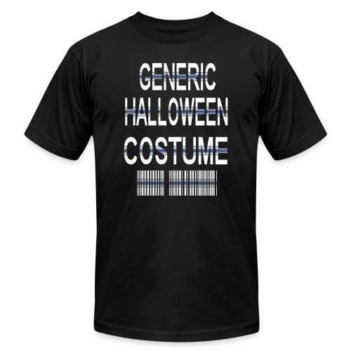 Generic Halloween Costume (white) - Unisex Jersey T-Shirt by Bella + Canvas