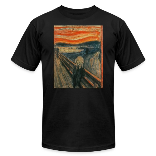 The Scream (Textured) by Edvard Munch - Men's  Jersey T-Shirt
