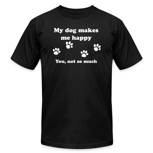dog_happy - Unisex Jersey T-Shirt by Bella + Canvas