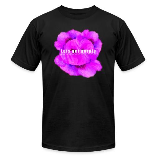 lets_get_purple_2 - Unisex Jersey T-Shirt by Bella + Canvas
